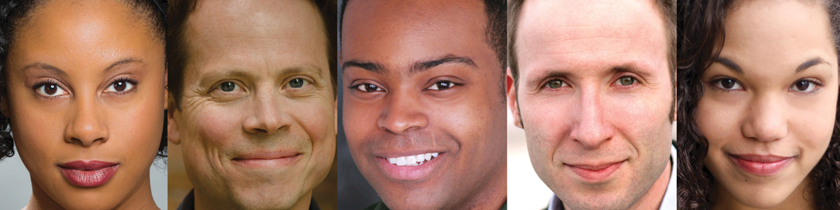 THE HAMPTON YEARS cast: Elena Flory-Barnes, Ron Hippe, Corey Spruill, Jon Stutzman, and Ayo Tushinde