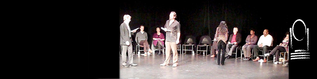 (L-R) George Mount, David A. Lewis and Khahn Doan (facing upstage)